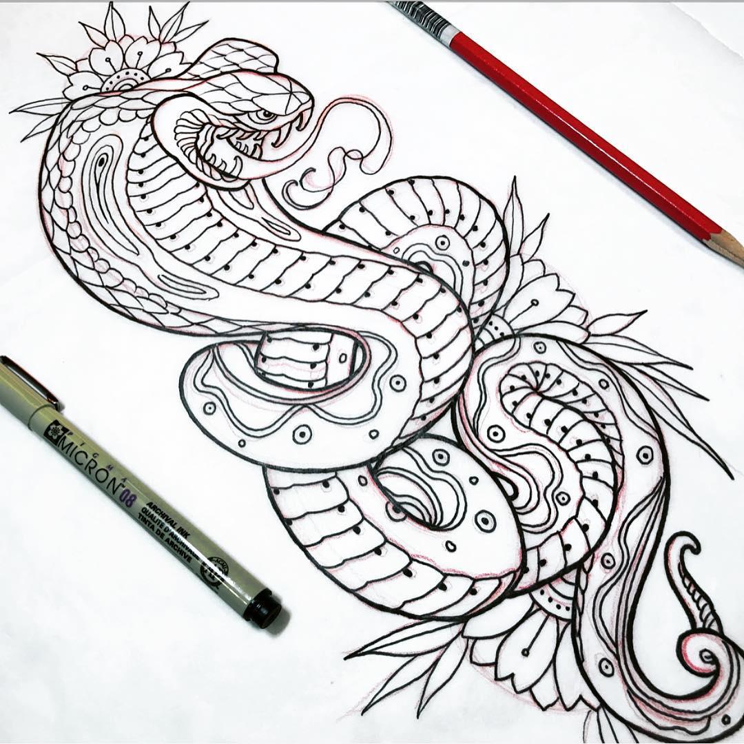 危先生蛇纹身手稿